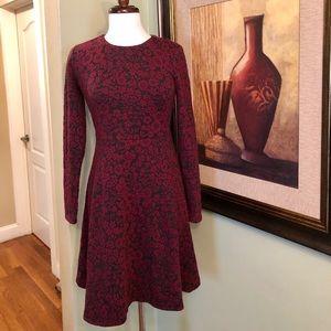 Ann Taylor LOFT Floral Long Sleeve Dress 0 VGC